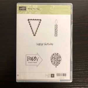 Party This Way STAMPIN UP Cling Rubber Stamps Set